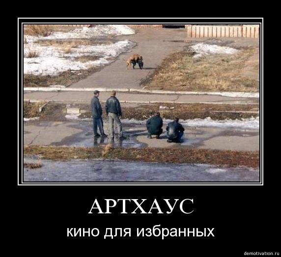 Демотиватор - любителям артхауса