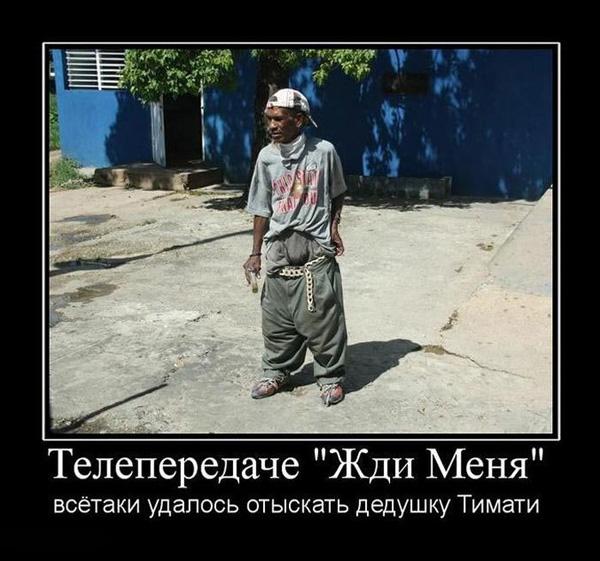 Демотиватор - найден дедушка Тимати