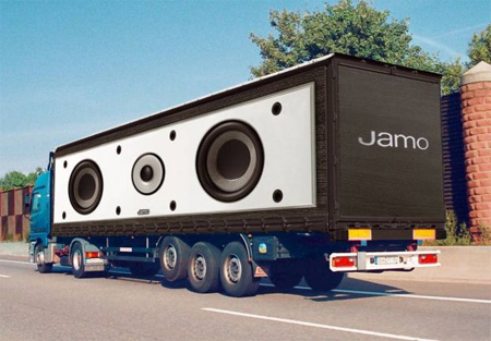 Креативная реклама на грузовиках - Звуковая система