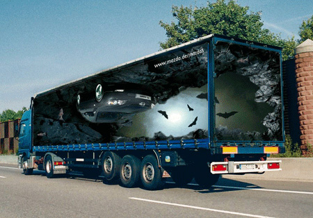 Креативная реклама на грузовиках - Mazda