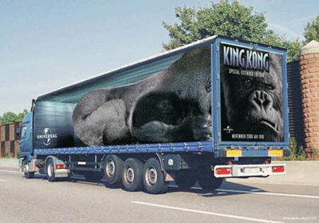 Креативная реклама на грузовиках - King Kong