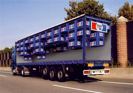 Креативная реклама на грузовиках - Pepsi