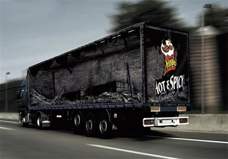 Креативная реклама на грузовиках - Pringles