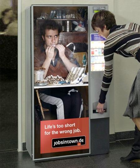 Жизнь слишком коротка для плохой работы - автомат с сигаретами